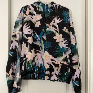 Floral Hooded Windbreaker